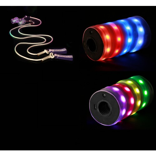 Speevers Apache Professional Light Poi Set - Modular And Extendable - Safe and Friendly - Rich Light Patterns  - Life Time Guaranty